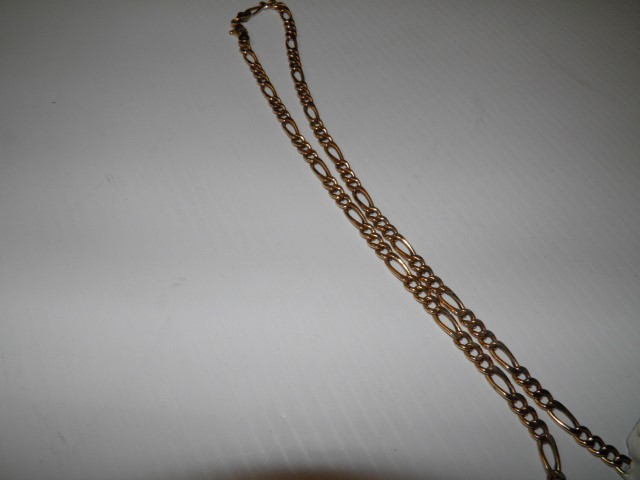 "20"" Gold Figaro Chain 10K Yellow Gold 12.9g"