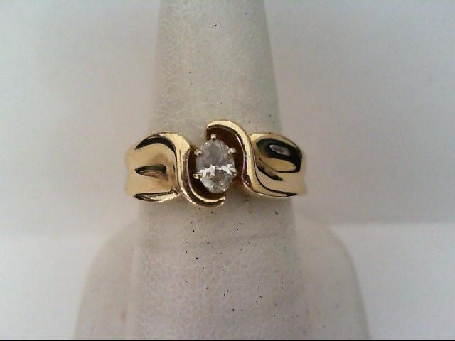 Lady's Diamond Fashion Ring .30 CT. 14K Yellow Gold 7.4g