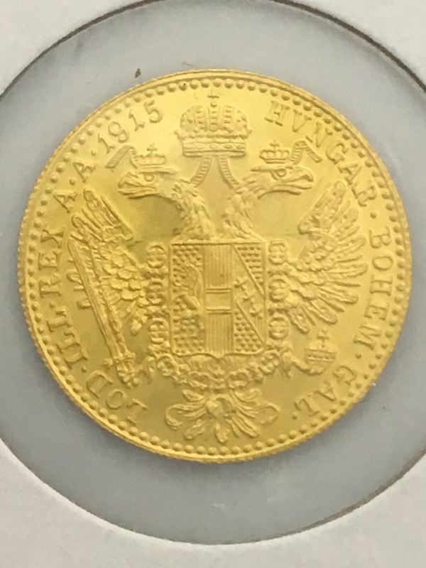 1915 Austrian Gold 1 One Ducat