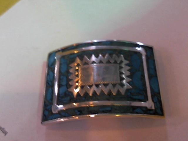 Silver Belt Buckle 925 Silver 72.9g