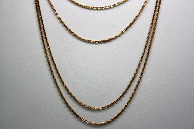 "54"" GOLD CHAIN 14K YELLOW GOLD  11.2g"