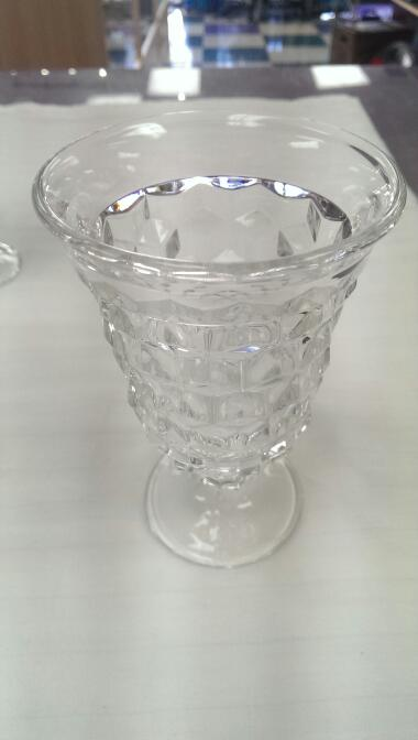 "SET OF 7 FOSTORIA AMERICAN 5 1/2"" X 3 1/2"" WATER GOBLETS"