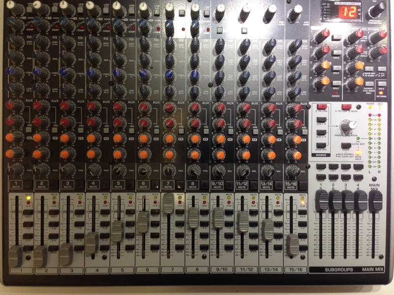 Behringer XENYX X2442USB 16-Channel USB Audio Mixer *Needs Power Cord*