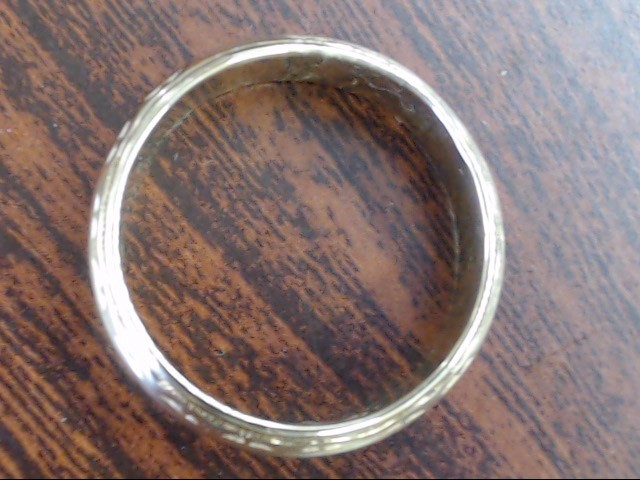 VINTAGE DECO WED RING BAND SOLID REAL 14K GOLD ETERNITY DESIGN 6.75