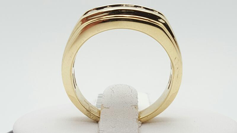 Gent's Diamond Fashion Ring 5 Diamonds .60 Carat T.W. 10K Yellow Gold 6.7g