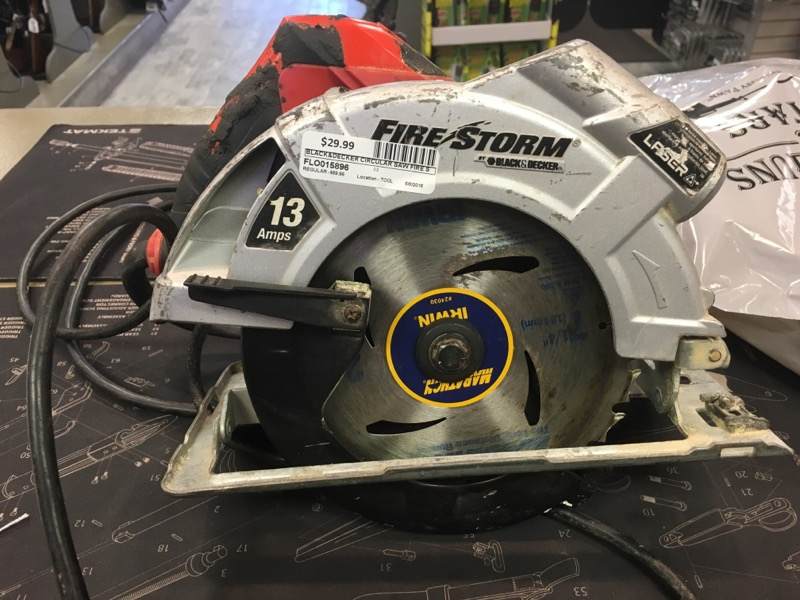 BLACK&DECKER Circular Saw FIRE STORM FS1300CSL