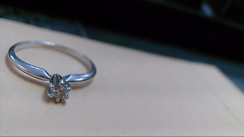 Lady's Diamond Solitaire Ring .15 CT. 14K White Gold 1.7g