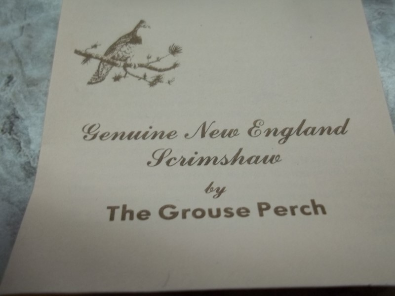 GROUSE PERCH N.E. SCRIMSHAW 3PC SET