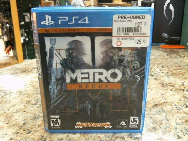 SONY Sony PlayStation 4 Game METRO REDUX - PS4