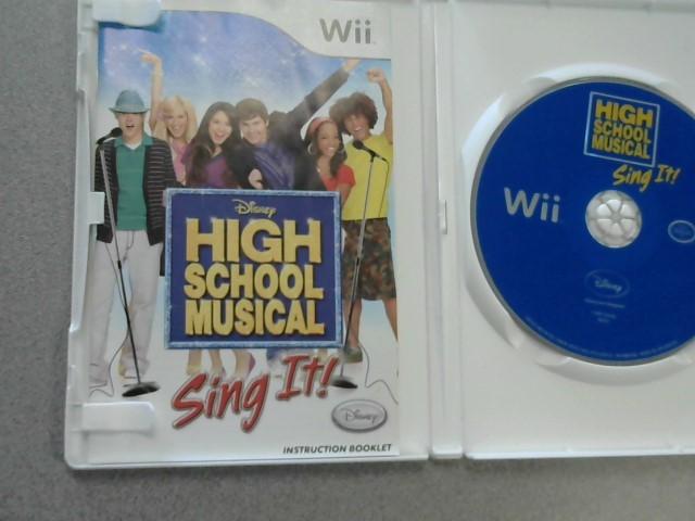NINTENDO Nintendo Wii Game HIGH SCHOOL MUSICAL SING IT