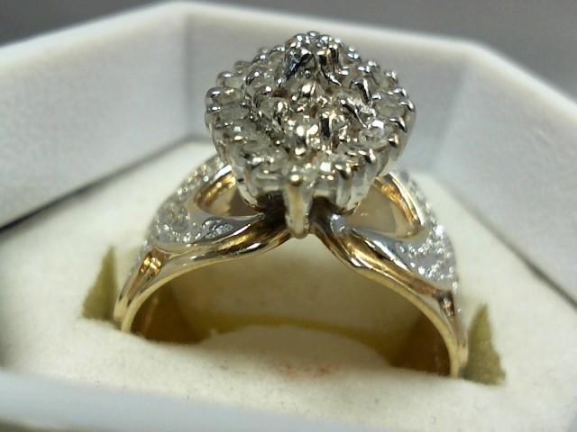 Gent's Gold-Diamond Wedding Band 35 Diamonds .70 Carat T.W. 10K Yellow Gold