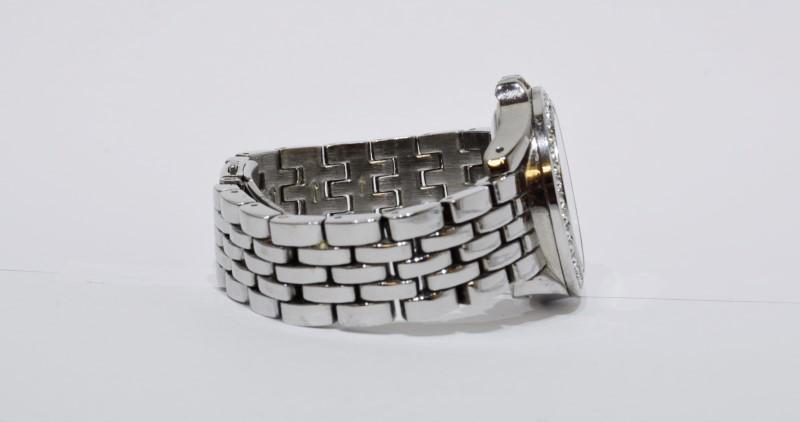 Relic ZR34168 Stainless Steel Rhinestone Bezel Mother of Pearl Women's Watch