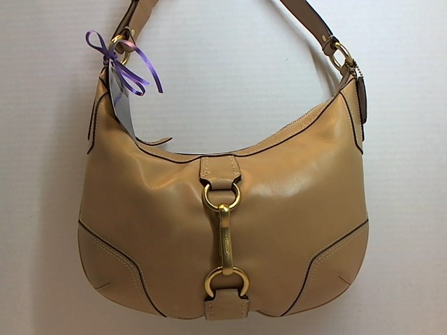 COACH 11544 BEIGE LEATHER HOBO HANDBAG