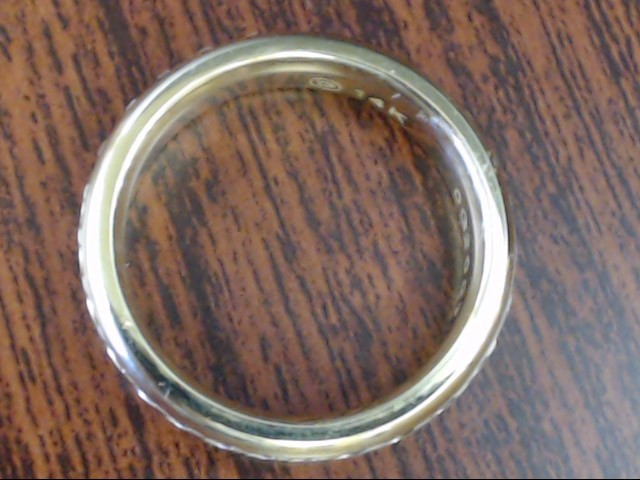 5.3mm ETERNITY DESIGN WEDDING RING BAND REAL 14K GOLD 8.8g SIZE 10