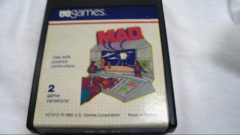 ATARI Vintage Game-M.A.D. 2 Game Variations