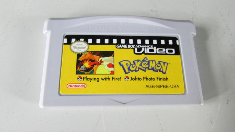 POKEMON GBA VIDEO - PLAYING WITH FIRE . JOHTO PHOTO FINISH