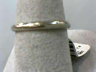 Lady's Gold Wedding Band 14K White Gold 1.4dwt Size:7.5