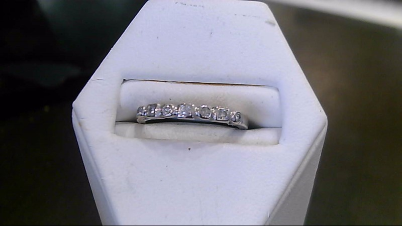 Lady's Diamond Engagement Ring 7 Diamonds .07 Carat T.W. 10K White Gold 1.5g