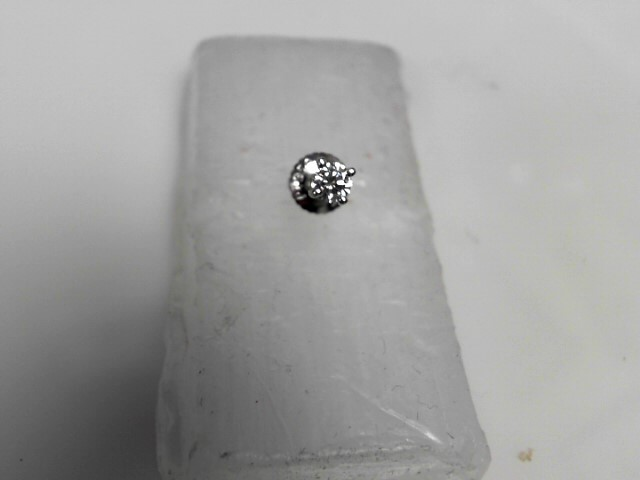 Single Diamond Stud Earrings .20 CT. 950 Platinum 0.7g