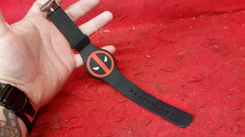 Marvel Deadpool LED Rubber Logo Wrist Watch Wristband