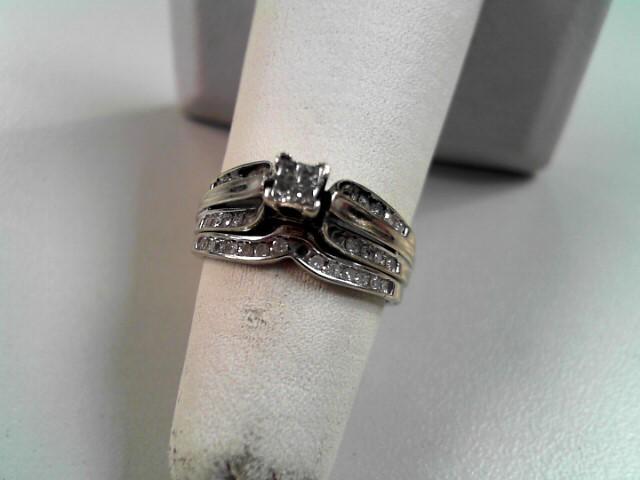 Lady's Diamond Wedding Set 34 Diamonds .34 Carat T.W. 10K White Gold 3.6g