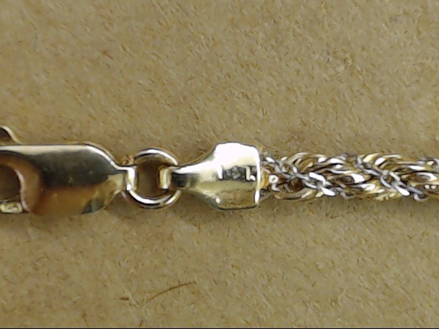 """VINTAGE ROPE TWIST CHAIN BRACELET REAL 14K 2 TONE GOLD ITALY 7.25"""""""