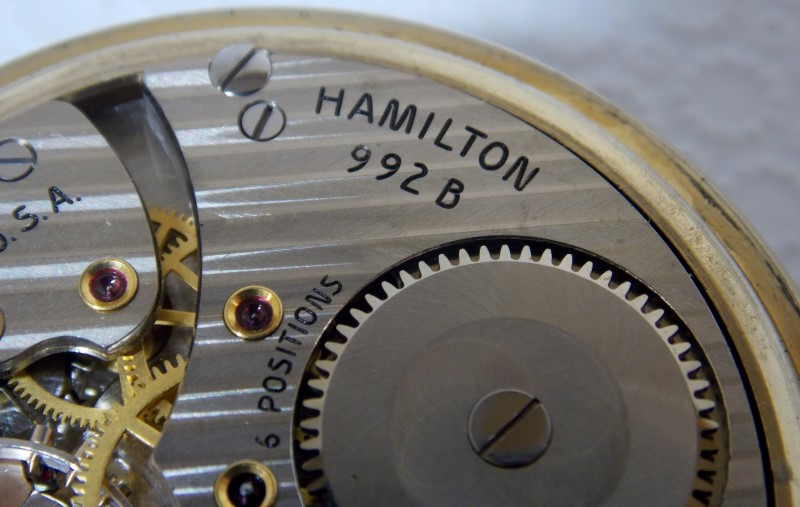 HAMILTON POCKET WATCH RAILWAY SPECIAL 992B, Model 5 from 1963