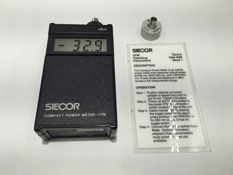 SEICOR COMPACT POWER METER CPM TEST TOOL