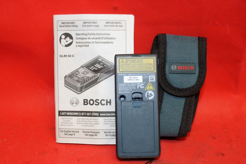 Bosch GLM50C Bluetooth Laser Digital Distance Tape Measure/Pointer