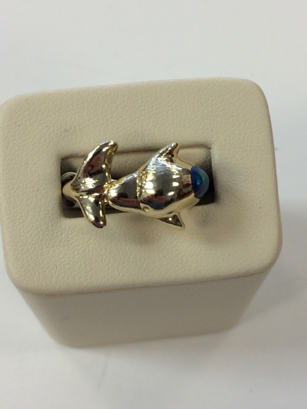 Opal Lady's Stone Ring 14K Yellow Gold 6g Size:7