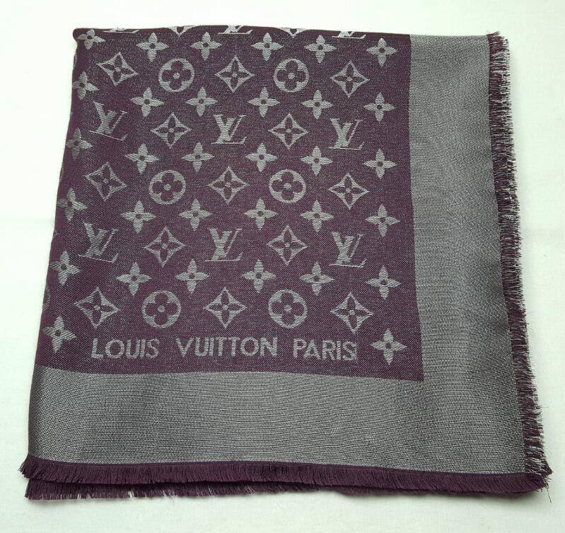 LOUIS VUITTON M74245 AMARANTE MONOGRAM SHINE SHAWL