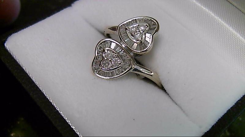 Lady's Diamond Cluster Ring 46 Diamonds .52 Carat T.W. 14K White Gold 3.2g