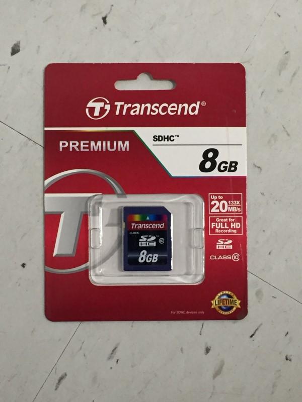 TRANSCEND 8GB SD CARD