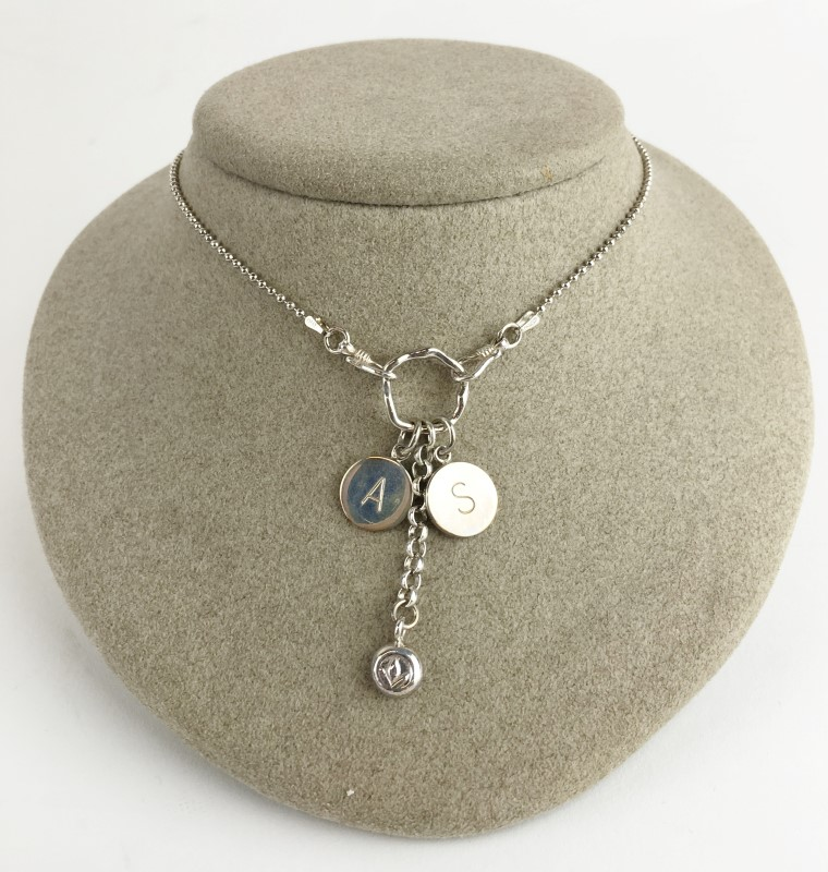 Sterling Silver AS Italy Necklace