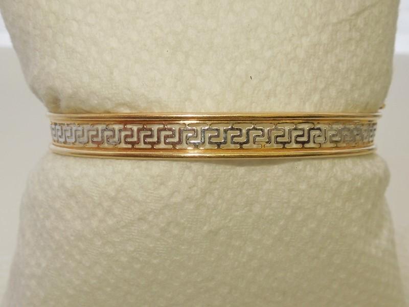 Gold Bracelet 14K 2 Tone Gold 6.5g