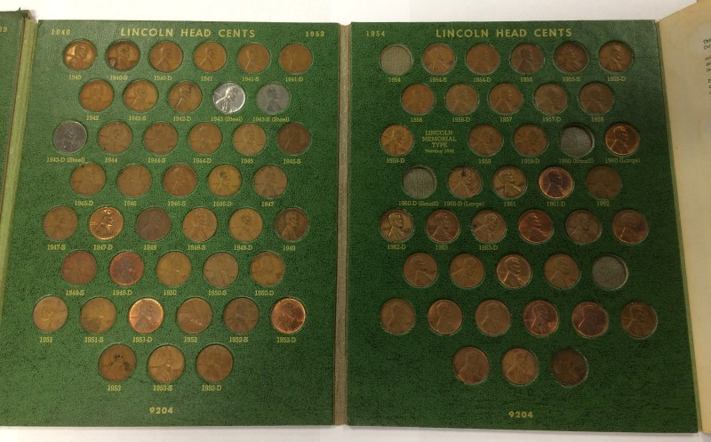 UNITED STATES LINCOLN PENNY COLLECTION BOOK