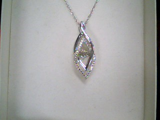 Diamond Necklace .01 CT. 925 Silver 3.2g
