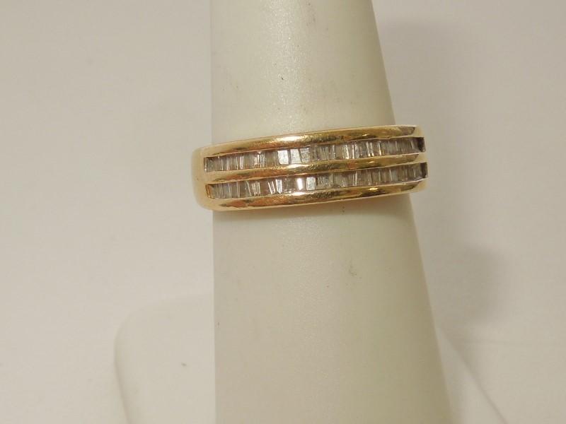 Lady's Diamond Cluster Ring 50 Diamonds .50 Carat T.W. 14K Yellow Gold 4.4g