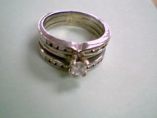Lady's Diamond Wedding Set 17 Diamonds .57 Carat T.W. 14K White Gold 6.3g
