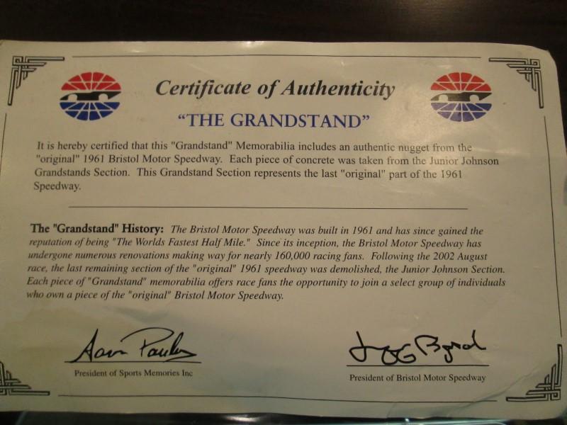 The Grandstand 1961 Bristol Motor Speedway Memorabilia