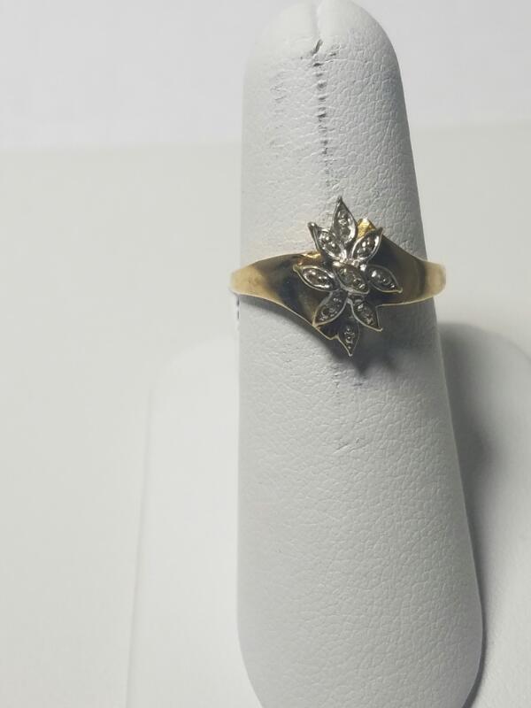DIAMOND/RUBY FANCY FASHION RING L'S 10KT DIAMOND/RUBY  1.4/Y