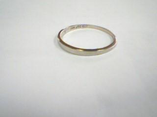 Lady's Gold Wedding Band 14K White Gold 1.1g Size:6.5
