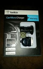 BELKIN IPOD/MP3 Accessory CAR MICRO CHARGER IPOD