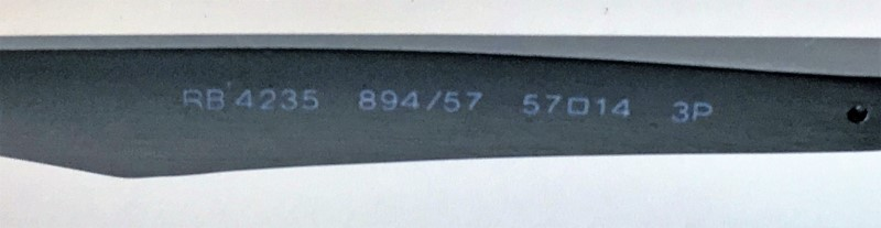RAY-BAN RB4325 SUNGLASSES