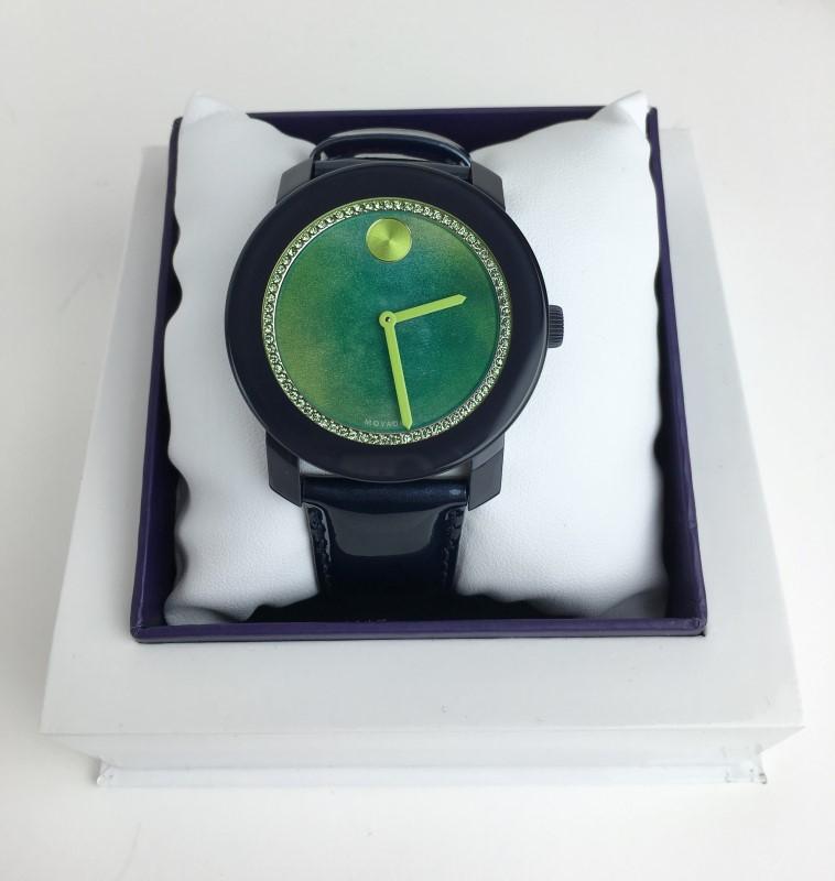 MOVADO Lady's Wristwatch GREEN GLITZ BOLD