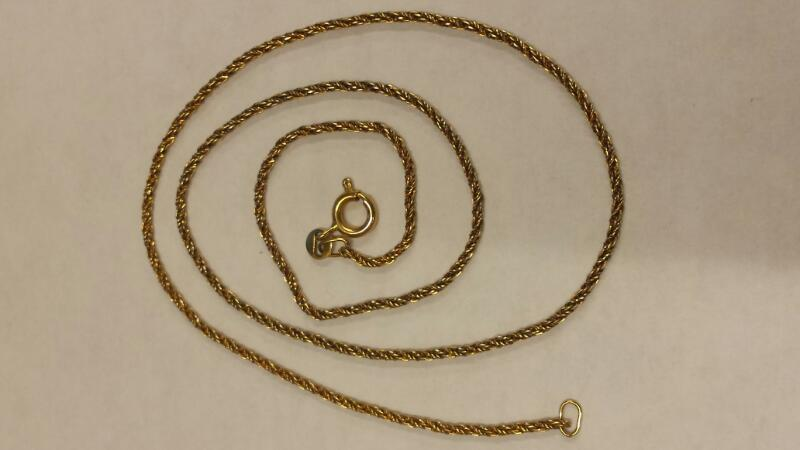 "16"" Twisted Gold Chain 18K Yellow Gold 2.31dwt"