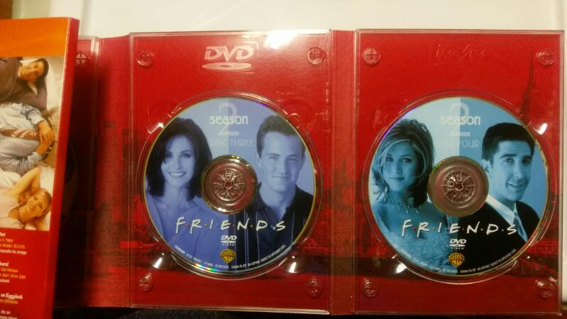 FRIENDS THE COMPLETE SECOND SEASON 4 DISK DVD BOX SET