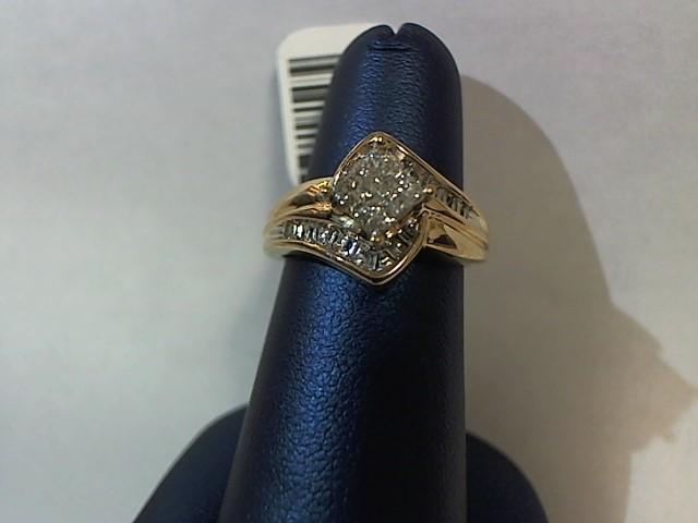 Lady's Diamond Fashion Ring 32 Diamonds .48 Carat T.W. 10K Yellow Gold 3.6g