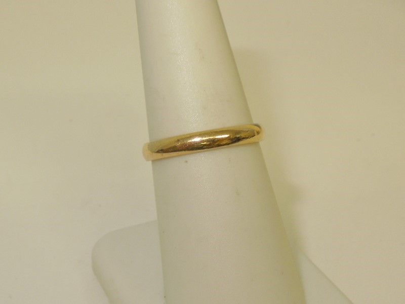 Lady's Gold Wedding Band 14K Yellow Gold 2.2g