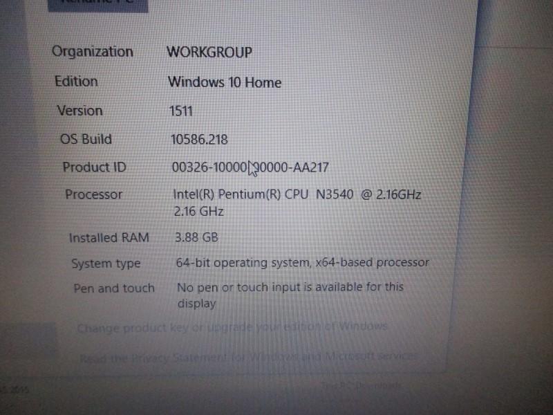 """DELL INSPIRON 15 15.6"""", 2.16 GHZ, 500GB HDD, 4GB RAM"""